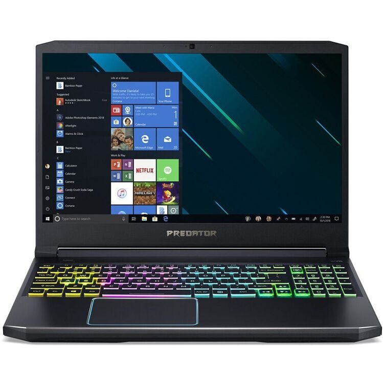 "Ноутбук Acer Helios 300 PH315-52-75BR NH.Q53ER.017 i7 9750H/16Gb/1Tb/SSD256Gb/nVidia GeForce GTX 1660 Ti 6Gb/15.6""/IPS/FHD (1920x1080)/Linux/black"