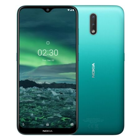 "Смартфон Nokia 2.3 DS Green (TA-1206), 6,2"" IPS (1520x720), Helio A22 (4х2,0ГГц, LTE, 13+2Мп/5 Мп, 2Gb/32 Gb, And9.0, 4000 мАч"
