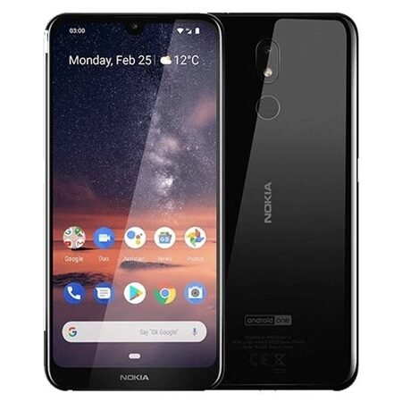 "Смартфон Nokia 3.2 DS Black (TA-1156), 6,26"" IPS (1520x720), SnapDr 429 (4х1,8ГГц, LTE, 13 Мп/5 Мп, 2Gb/16 Gb, And9.0, 4000 мАч"