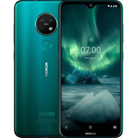 "Смартфон Nokia 7.2 DS Green (TA-1196) 128Gb, 6,3"" IPS (2280x1080), SnapD 660 (8х2,2ГГц), LTE, NFC, 48+8+5 Мп/20 Мп, 6Gb/128 Gb, And9.0, 3500 мАч"