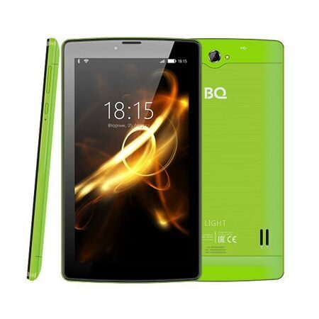 "Планшет BQ-7083G Light Green 8Gb+3G/7"" TN (1024x600)/SC7731C (4x1.0 GHz)/1Gb/0.3MP/A7.0/2400mAh"